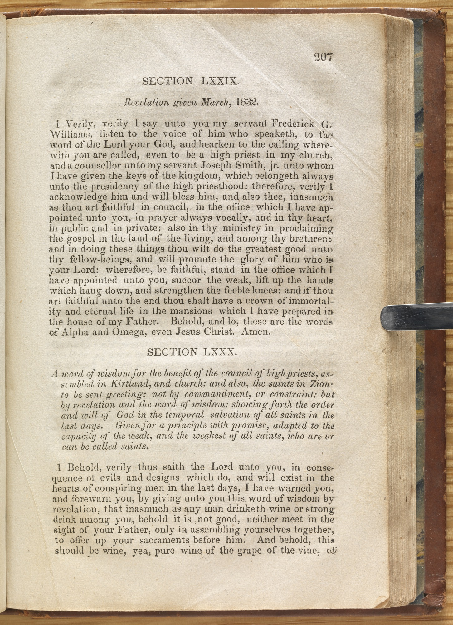 Doctrine and Covenants, 1835