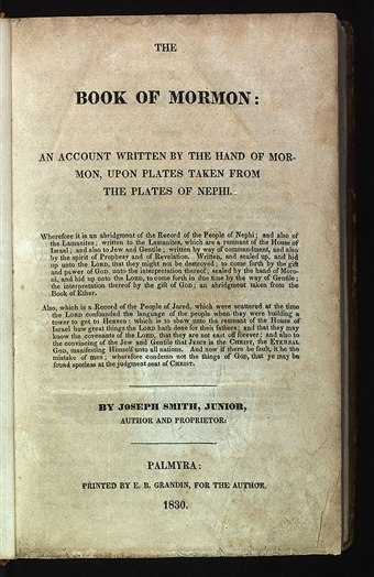 Image result for 1830 book of mormon