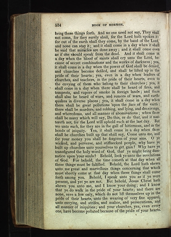 Introduction page of the book of mormon