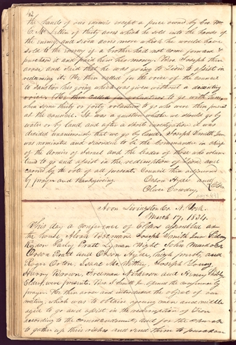 Minutes, 17 March 1834, Page 42
