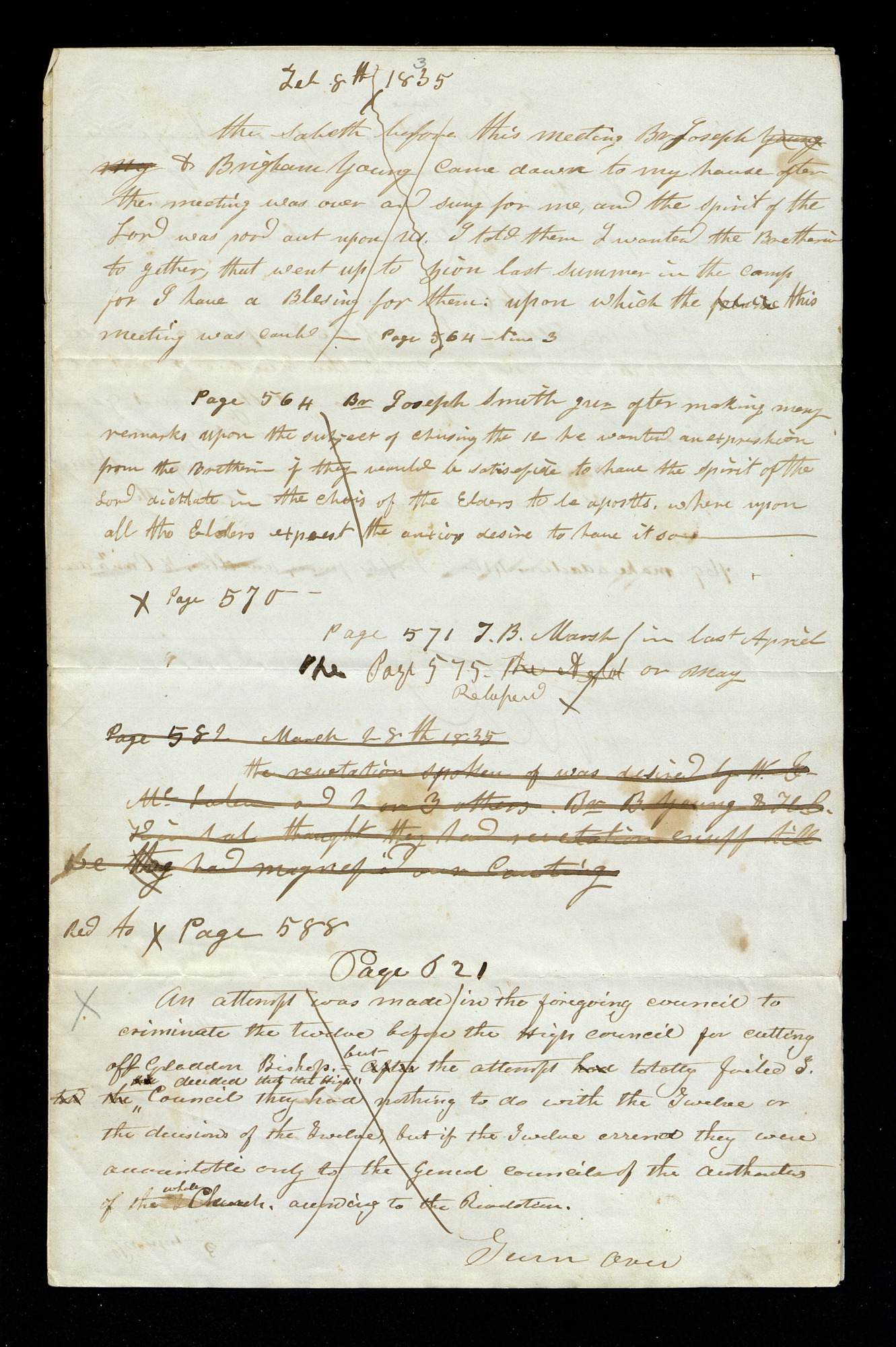 Addenda Notes [1835], Page 1