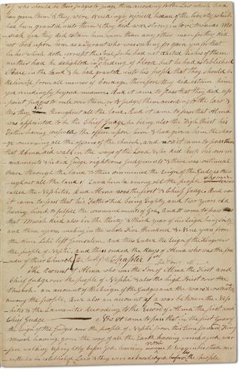 Printer's Manuscript of the Book of Mormon, circa August