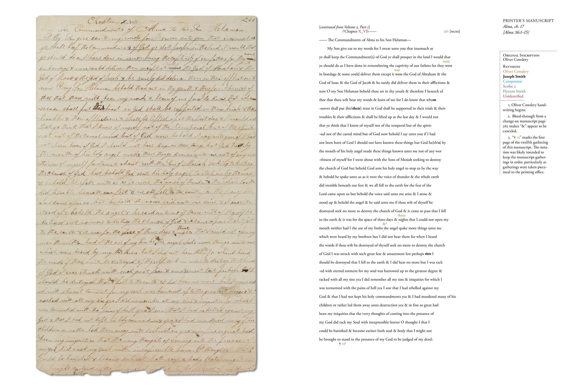 72ab5d39b708 Printer s Manuscript of the Book of Mormon