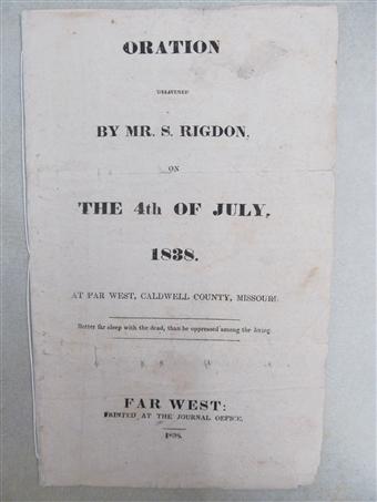 Appendix 3: Discourse, circa 4 July 1838, Page 1