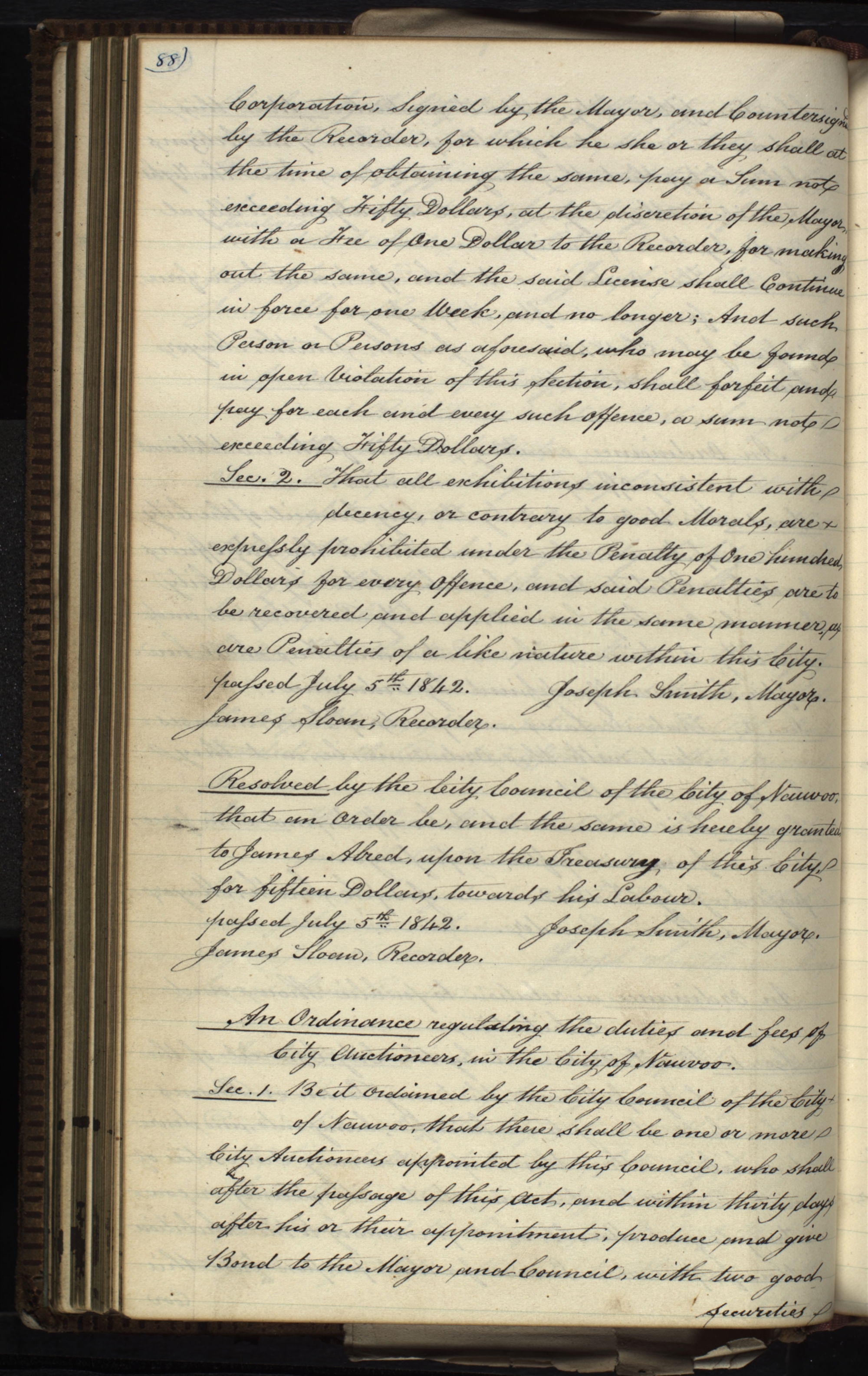 Resolution, 5 July 1842, Page 88