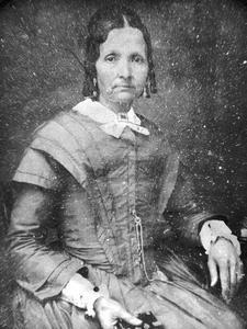 Eliza Snow circa 1852, photograph attributed to Marsena Cannon