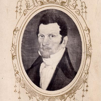 "Circa 1833, photograph of painting by ""Webber"" (Church History Library, Salt Lake City)."