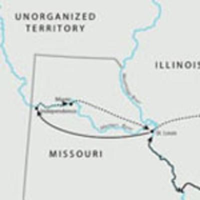 Joseph Smith's travel between Ohio and Missouri, 1831