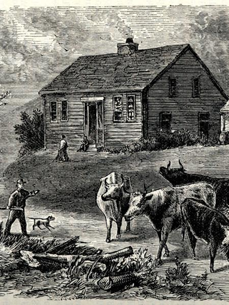 Engraving, unknown artist, 1881. (History of Jackson County, Missouri, 1881, p. 25.)
