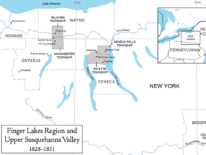 Finger Lakes Region and Upper Susquehanna Valley, 1828–1831