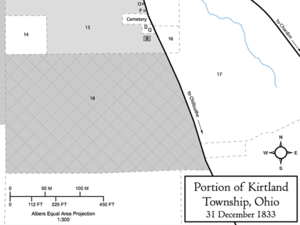 Portion of Kirtland Township, Ohio, 31 December 1833